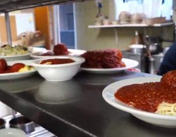 A plate of spaghetti and meatballs at Mrs. Robino's Italian restaurant