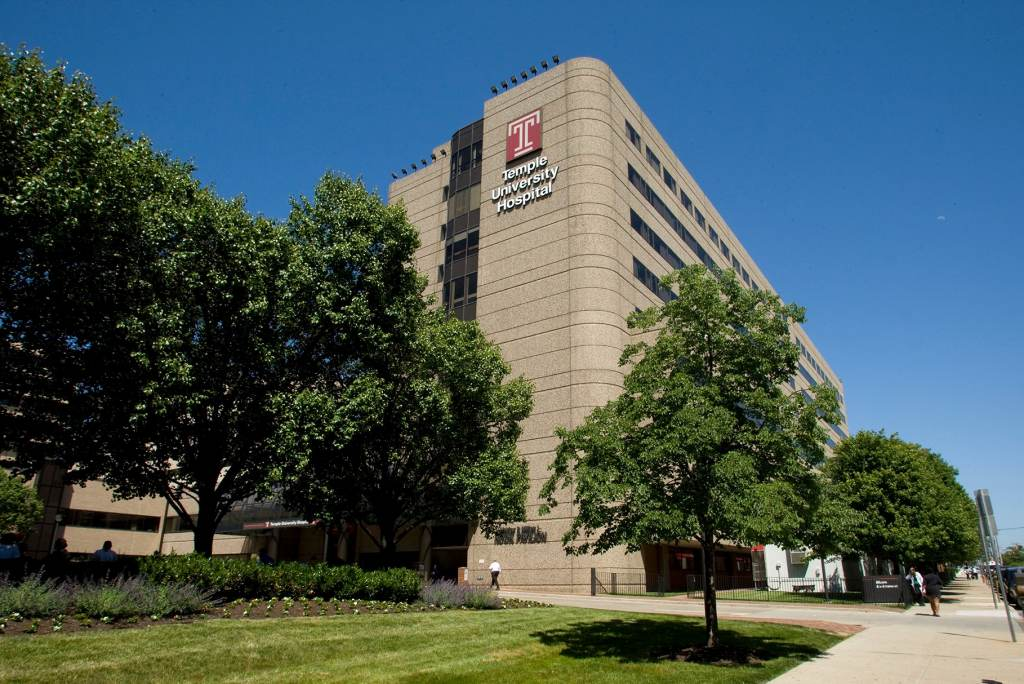 The exterior of Temple University Hospital