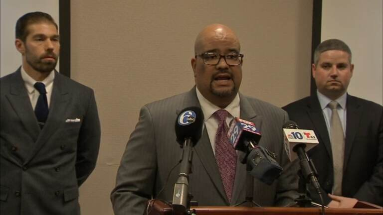 Damon Tyner, the Atlantic County prosecutor, resigned Tuesday after facing multiple lawsuits and ethics complaints. (6ABC)