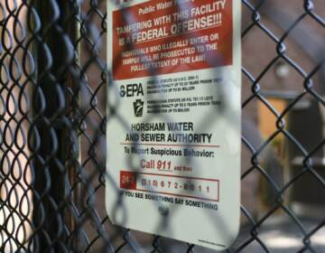Detailed view on the newly instaled system to filter out PFAS Forever Chemicals at Well #2 of the Horsham Water and Sewer Authority facility in Horsham, Pa., on August 22, 2019. (Bastiaan Slabbers for WHYY)