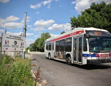 A bus leaves the Midvale depot in Nicetown