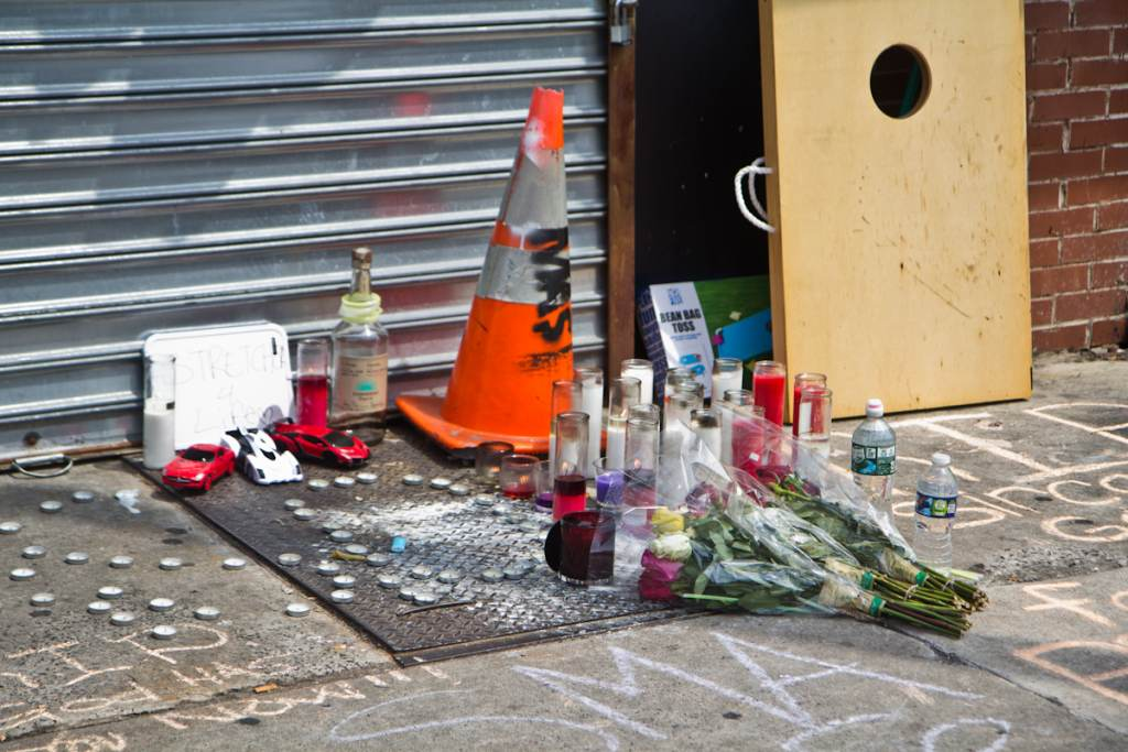 A memorial on 60th Street in West Philadelphia