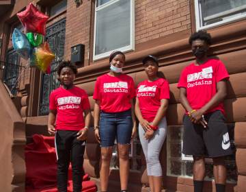 Playstreets captains (from left) Jah'sier Birchett, Taylor Elliot, Makalah Hanible and Semaj McFadden stand outside