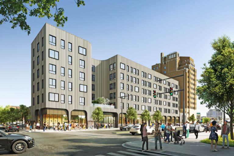 A rendering of the Beury development project