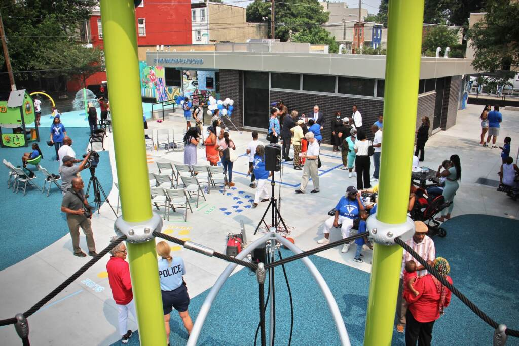 8th and Diamond Playground is viewed from above