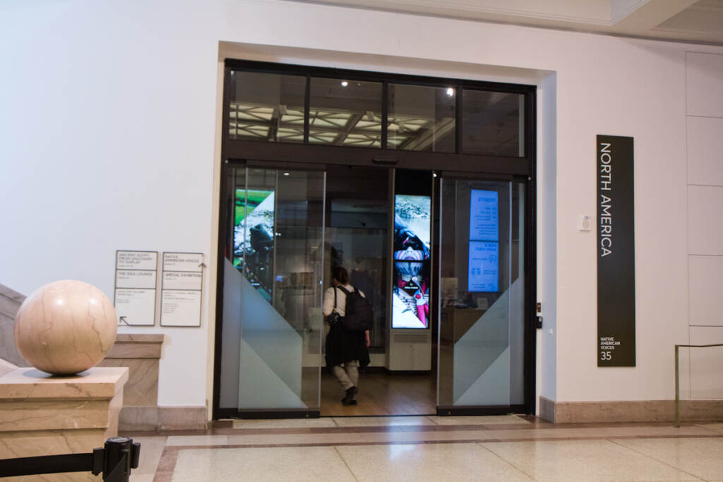 The entrance to the North American room at the Penn Museum