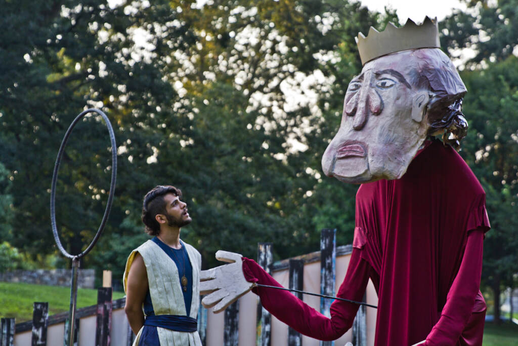 """Jo Vito Ramírez as Young Pericles in Shakespeare in Clark Park's production of """"Pericles, Prince of Tyre."""""""