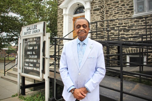 The Rev. Robert Collier of Galilee Baptist Church helped organize a virtual town hall to educate Philadelphians about eviction diversion programs. (Emma Lee/WHYY)