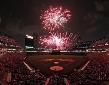 Fireworks at the Philadelphia Phillies stadium