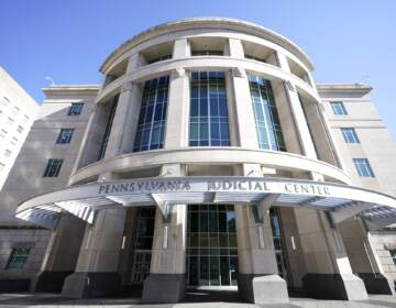 A general view of the Pennsylvania Judicial Center, home to the Commonwealth Court. (Julio Cortez / AP Photo)