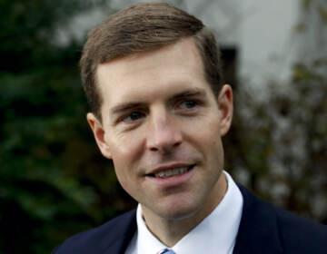 A closeup of Rep. Conor Lamb