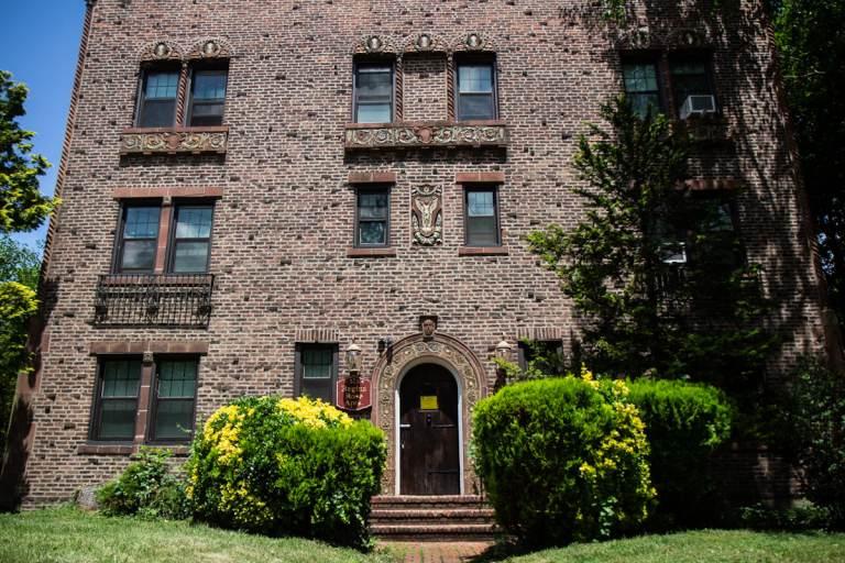 The exterior of the Regina Rose Apartments