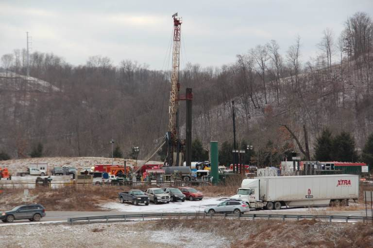 A Marcellus shale gas well in Washington County, Pa. (Reid R. Frazier / StateImpact Pennsylvania)