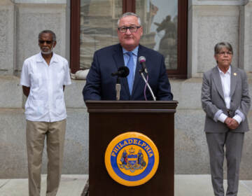 The CDC's eviction moratorium ends Saturday, July 31, 2021. Philadelphia Mayor Jim Kenney and other officials are urging reside in danger of eviction to apply for rental assistance today. (Kimberly Paynter/WHYY)