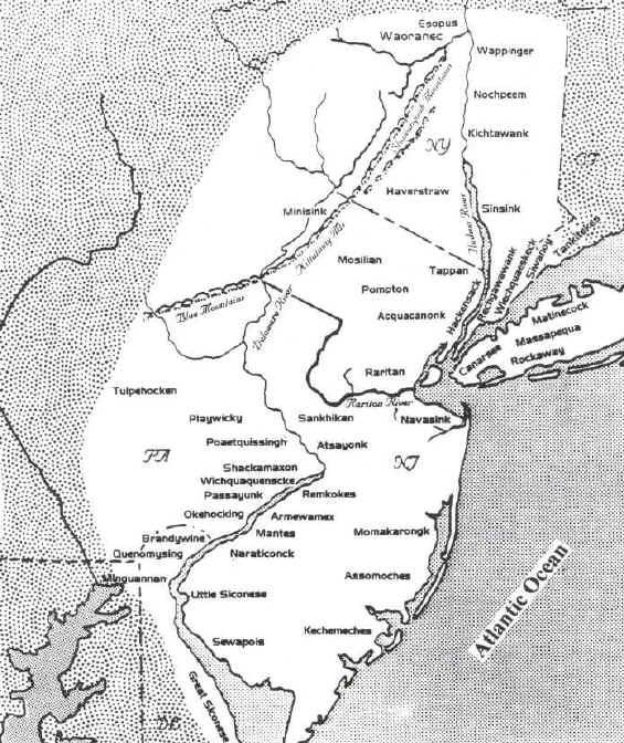 A Lenapehoking map