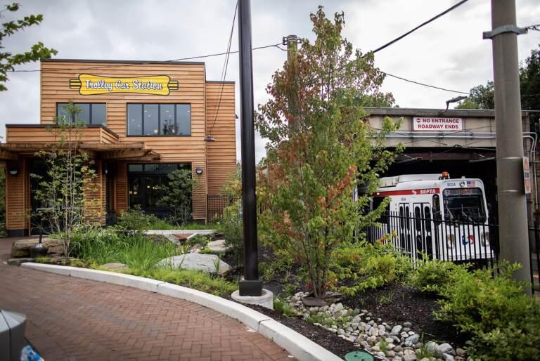 40th Street's Trolley Portal Gardens