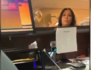 A New Jersey woman is facing charges after a tirade of racial slurs was caught on video at a Super 8 hotel in Mount Laurel. (6ABC)