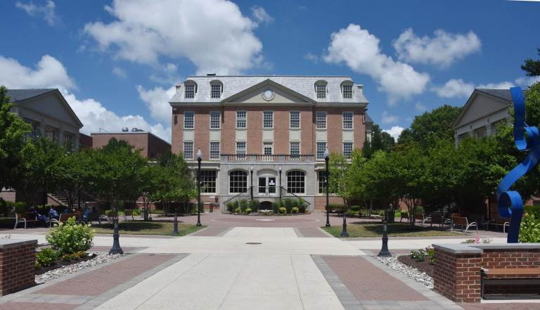 Delaware State University's acquisition of Wesley College in Dover includes 21 campus buildings like DuPont Hall, seen here. (Del. State University)