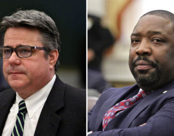 Councilmember Bobby Henon and Councilmember Kenyatta Johnson face separate federal indictments. (Emma Lee / WHYY)