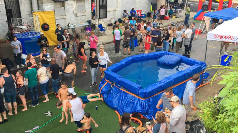 Cedar Street Pool Party (Danya Henninger/WHYY)