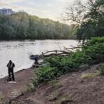 A new ADA-accessible dock is being built in East Falls to make it easier to get out onto the Schuylkill River. (Courtesy of Peg Shaw)
