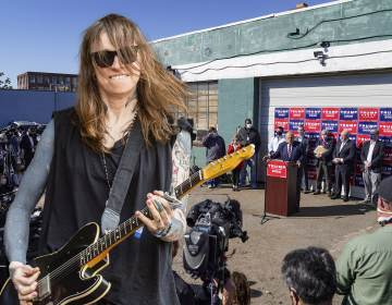 Musician Laura Jane Grace will perform at Four Seasons Total Landscaping in a sold-out concert in August 2021 BILLY PENN ILLUSTRATION VIA AP