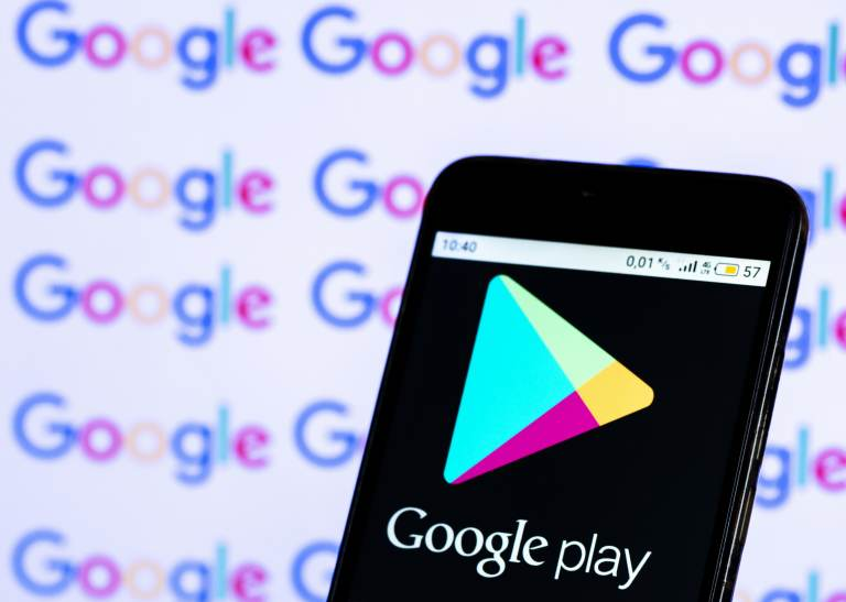 A coalition of more than 30 states on Wednesday sued Google for allegedly abusing its power it has over developers through its Google Play store on Google devices, like Androids. (SOPA Images/SOPA Images/LightRocket via Getty)