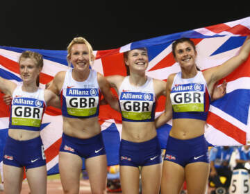 Olivia Breen (right), a Welsh Paralympian seen here in 2015, recently recounted a competition official remarking that her briefs were