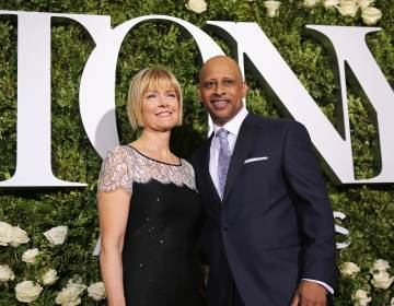 Ruben Santiago-Hudson and Jeannie Santiago attend the 2017 Tony Awards at Radio City Music Hall. Playwright Ruben Santiago-Hudson will both star in his own one-man play,