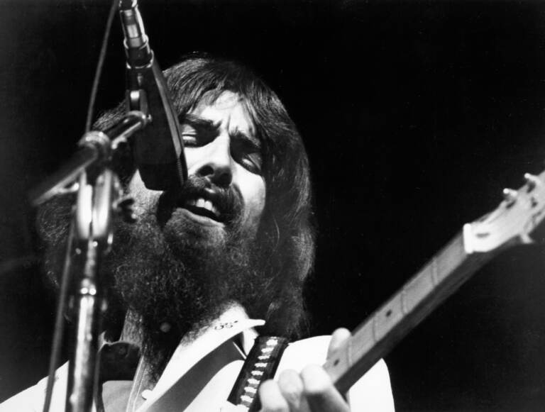 George Harrison performs at the Concert for Bangladesh, held at Madison Square Garden on August 1, 1971 in New York City. Asked why he joined in organizing the event, he said,