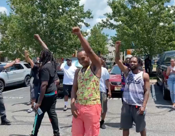 """Chants of """"No justice, no peace"""" ring out at a protest in Mount Laurel"""