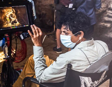 M. Night Shyamalan directing