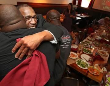 Anthony Wright celebrating his freedom. (Courtesy of Anthony Wright)