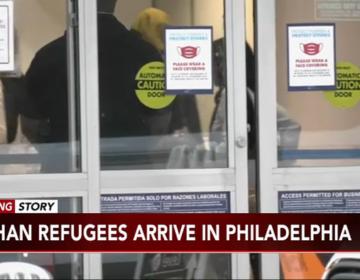Afghanistan refugees arrive at Philadelphia International Airport