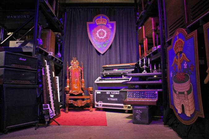 The Rick Wakeman collection at the Electronic Music Education and Preservation Project includes stage props as well as instruments and electronics used by the keyboardist