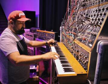 Vince Pupillo Jr. performs on Keith Emerson's Moog synthesizer
