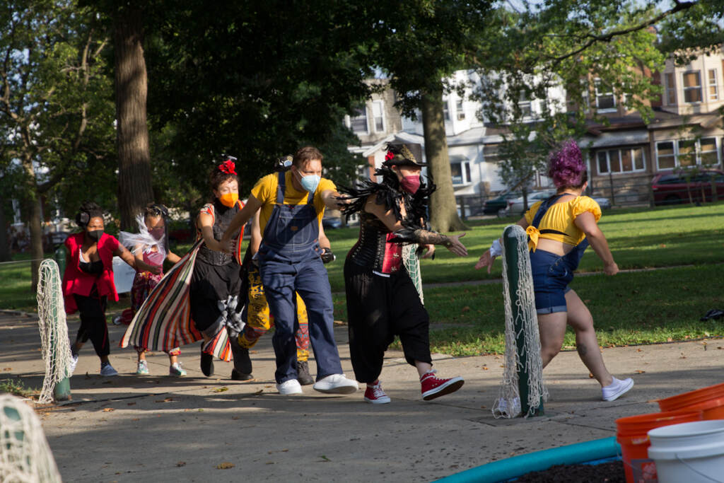 """The Shakespeare in Clark Park production of """"Peril's Island"""" pays homage to a fabled fountain in Harrowgate Park."""