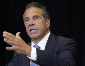New York Gov. Andrew Cuomo speaks during a news conferenc