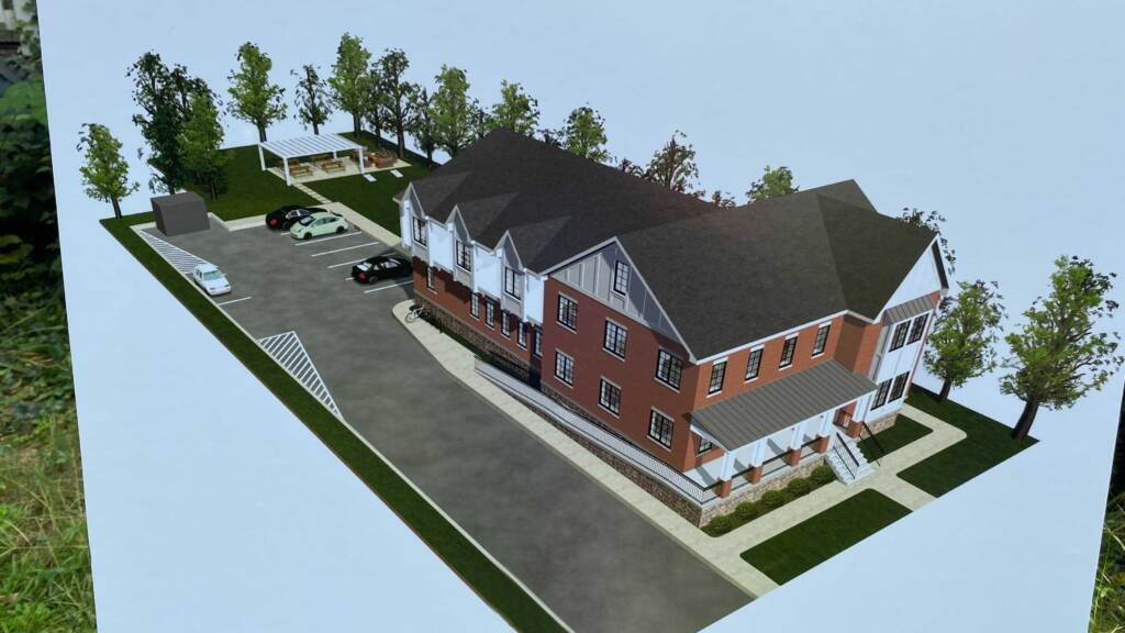 Conceptual drawing of new Chabad Center.