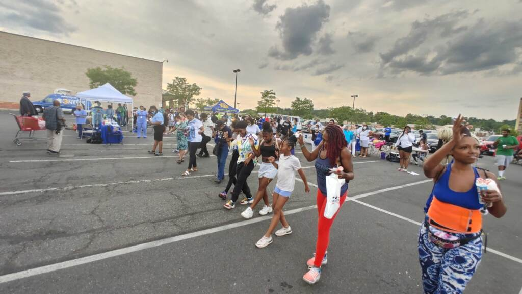 Dancers at the National Night Out party