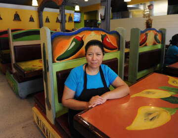 Maudy Mendez, owner of Maudy's Hispanic Cuisine located on East Market Street in Georgetown, takes a brief break from cooking on Wednesday.    (Butch Comegys/Delaware State News)