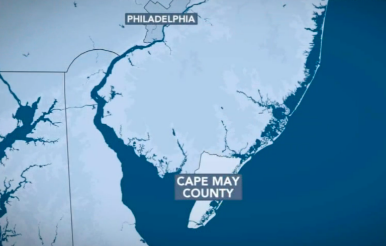 Map of Cape May County