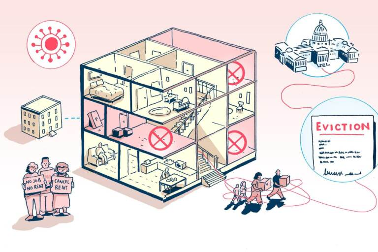 An illustration of rental rental protections during the pandemic.