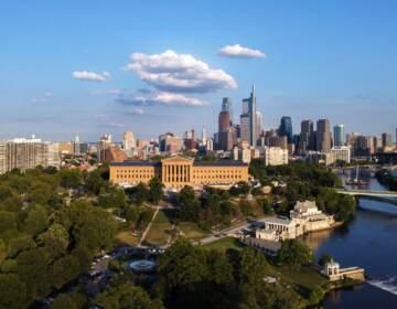 Philadelphia city skyline.