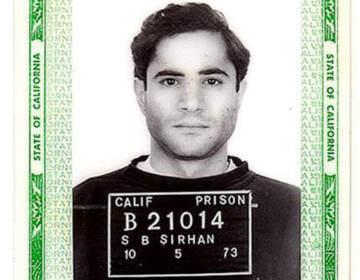 Sirhan Sirhan in a 1973 California Department of Corrections identification card