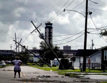 Wreckage in Louisiana following Hurrian Ida