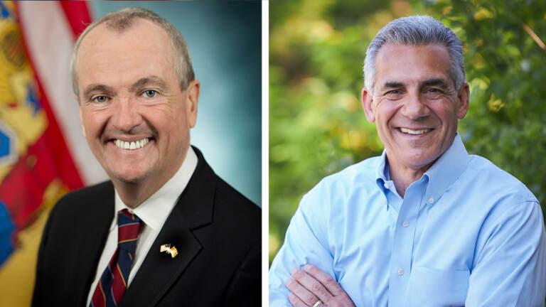 New Jersey Gov. Phil Murphy (left) and Jack Ciattarelli