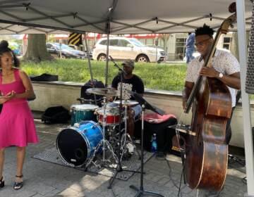 Maya Belardo performs at a Delaware jazz festival