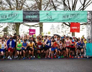 Participants prepare to run in New Jersey's Marathon and Half Marathon