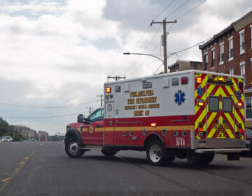 Ambulance at Kensington and Lehigh Avenues.